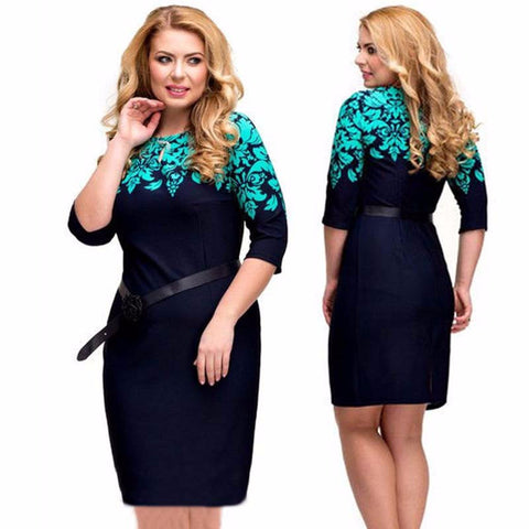 5xl 6xl Dress Regular Sheath Autumn Winter Dresses Plus Size Casual Clothing