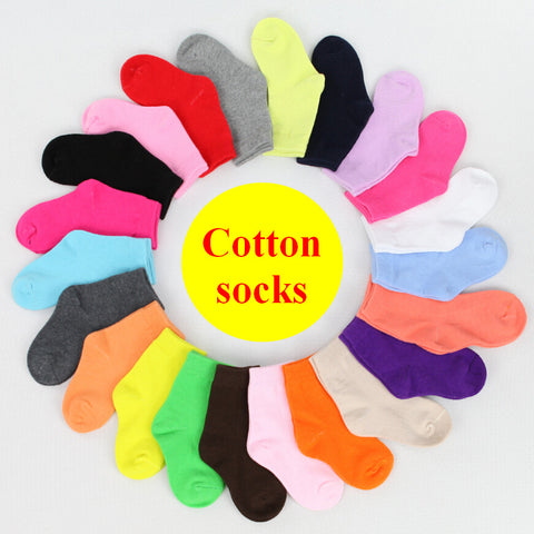 1-9 100% Cotton Sport Socks Brand Children Spring Autumn Short Socks
