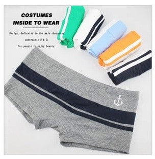 5pcs/ underwear for men / Boxers Cotton mixed color