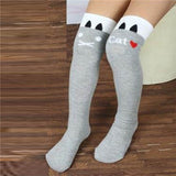 Girls Knee High Socks Cotton Tights Striped Stockings for Girls 1-8Y Freeshipping