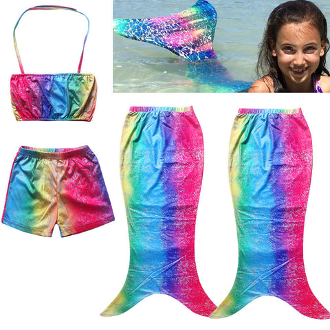 3pc Mermaid  Beach Clothes