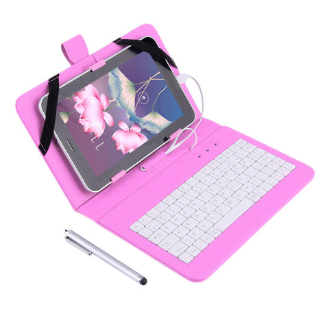 "New 7"" PU Leather Case Cover With USB Keyboard for 7"" inch Android Tablet PC"