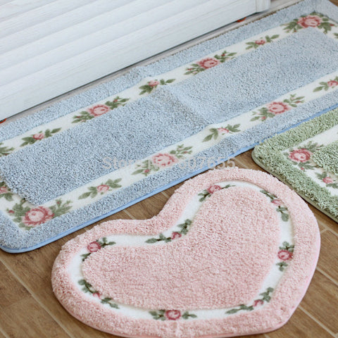 Cute FlowerBathroom Absorbent Rug Non-slip Mats Carpet