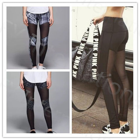 See Through Panel Stylish Leggings Pants for women fitness Running Exercise Fitness