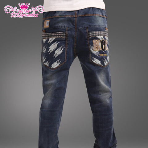 Solid Color Cotton Fashion Korean Style Boys Jeans