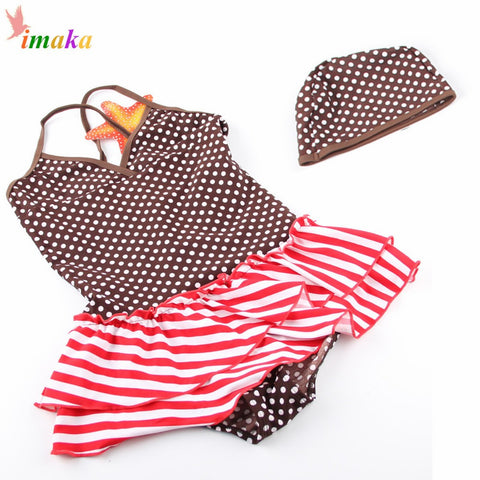 Bikini Infantil Costume Skirt Tankini Swimwear For Girls
