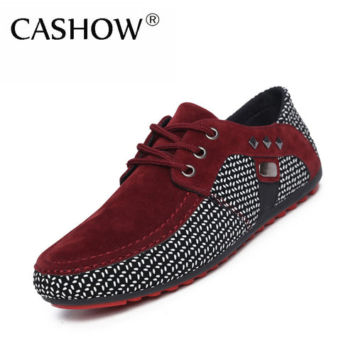 Fashion Men Shoes Mens Sneakers Casual Suede Shoes Comfortable Breathable Flats Driving Loafers