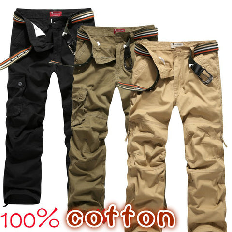 Men's fashion army gray cargo pants military pants for men