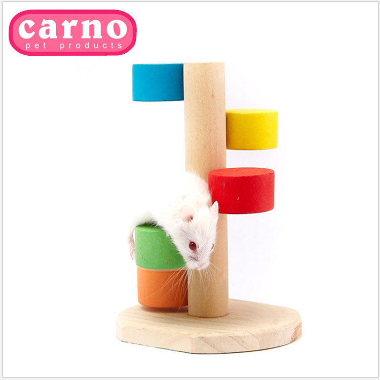 Hamster Toy 7-Color Rainbow Ladder For Gebil Rat rabbit Chinchilla Guinea pig