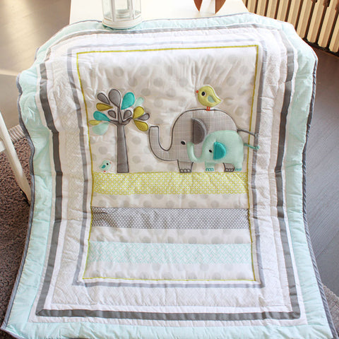 8pcs Baby Bedding Set Elephant