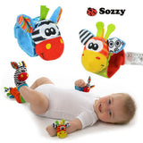 New A Pair Sozzy Baby Infant Soft Toy Wrist Rattles Finders Developmental