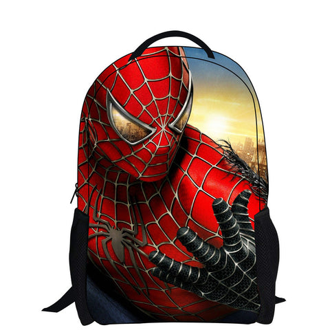 backpack with zipper boy cool spiderman bag school for kid printing backpack