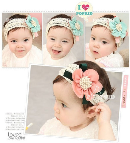 3 Colors Children Newborn Big Flower Headband Headwear Hair Accessories  A012