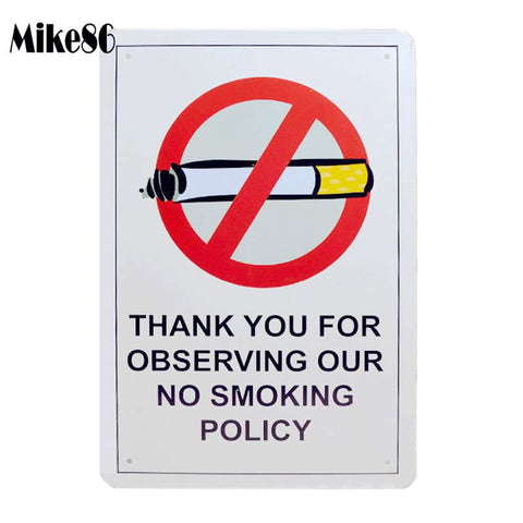 No Smoking Tin sign