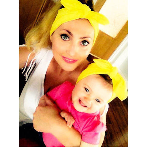 Headband Mommy and me Matching Headbands Photo Prop Gift for Mom and Baby 1Set