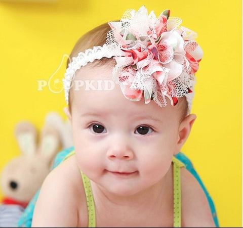 2 Colors  Girls Lace Headband Infant Knitting Hair Weave Baby Hair Accessories  A006