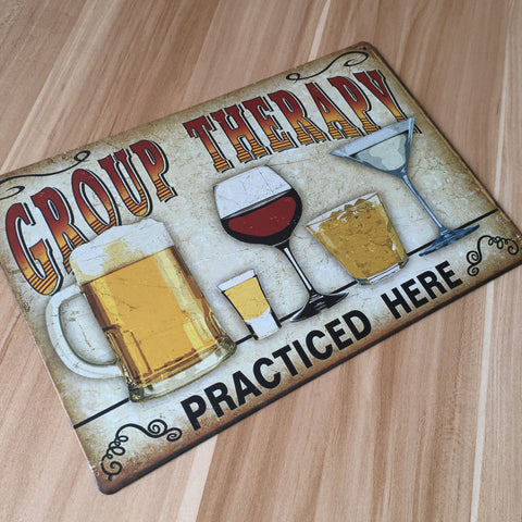metal painting  vintage tin signs plate  wall art craft  for bar 20x30cm