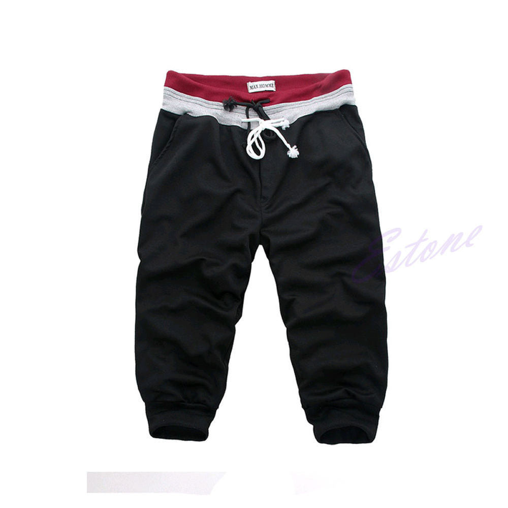 Men Sports Harem Training Dance Baggy Jogger Casual Shorts Slacks Trousers