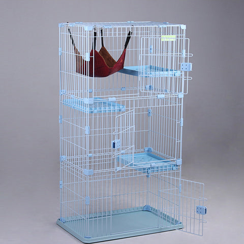 Cage Large Play Top with water fountain lapped Wood House semi-closed toilet  cat  Cage  Pet Supplies
