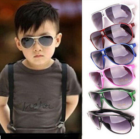 Boys Girls Kids Plastic Frame Sunglasses Goggles Eyeglasses