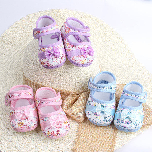 Baby Girl Infants Bowknot Prewalker Size 4 5 6