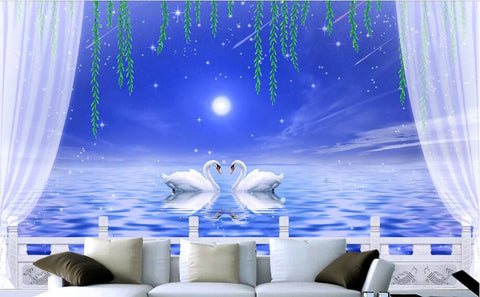 3 d swan lake a fairy wall murals wallpaper we need size of wall to give exact price