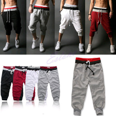 $7.75 Men Sports Pants Harem Training Dance Baggy Jogger Casual Trousers Shorts Slacks