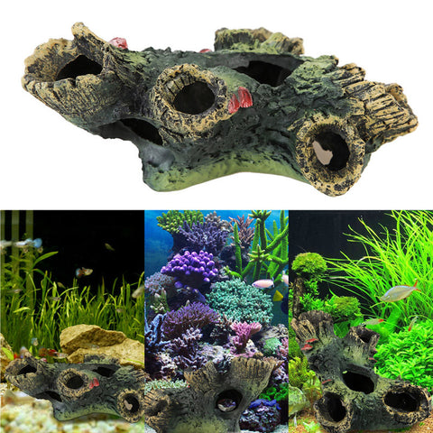 Aquarium Driftwood For Fish Tank Resin Ornaments Decoration Aquarium Simulation Wood Decorative Rockery
