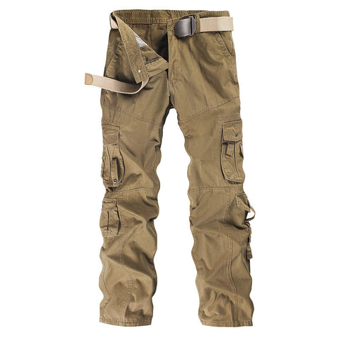 Combat Multi-Pockets Long Full Length Cargo Pants Work Trousers Camouflage Large Size