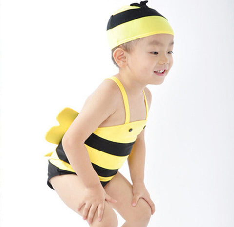 Bees One Pieces+Cap Beachwear