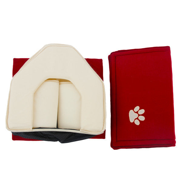Soft Dog House For Pets Cats Dogs Home Shape 2 Color Red Green