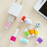 Fashion USB Cable Earphones Protector Colorful Cover For Iphone Android