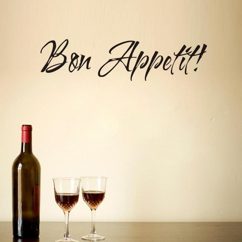 BON APPETIT wall art decals home decorations living room decor wall stickers kitchen