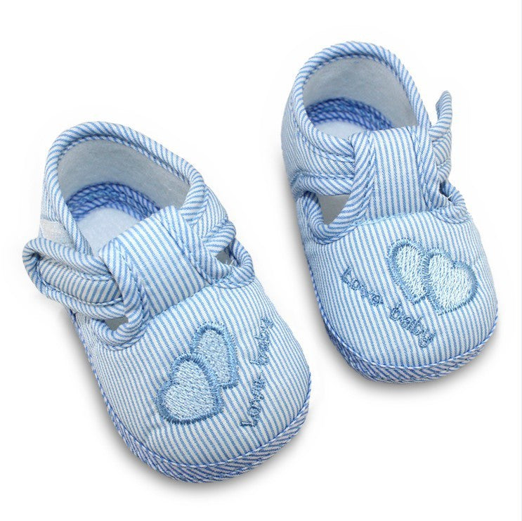 Cute Heart  cotton baby shoes
