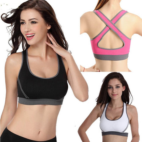 Women Jogging Yoga Sports Bra Seamless Racerback Underwear Fitness Clothes Tennis Vest Camisole P96