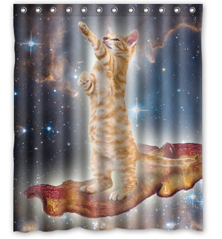 6 Space Cat And Glaxy Star Universe 60X72 Inch Shower Curtain Amazing Decorate your bathroom