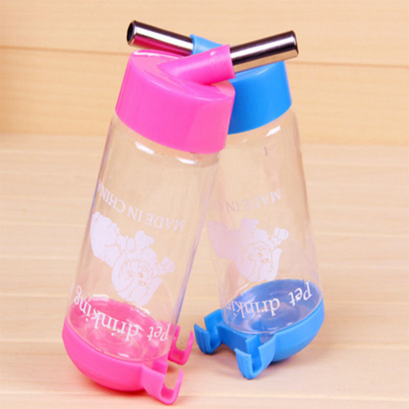 450ml Water Drinking Feeder Pet Dog Rat Hamster Rabbit Cylindrical Cage Bottle