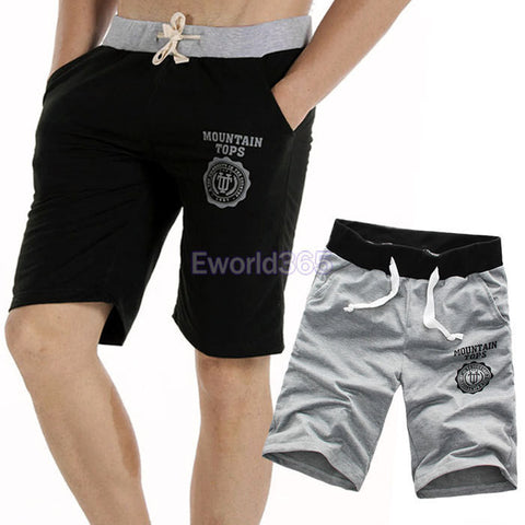 2X HK Beach Trousers Sports Gym Short Pants Slacks Jogging Black/Gray M/L/XL/XXL