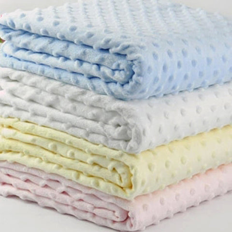 Baby Receiving Blanket Manta Bebe Cobertor Bebe Minky dots Swaddle