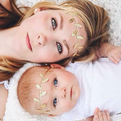 2Pcs  Matching Headband Baby and Mommy Headwrap Gifts