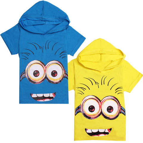 despicable me 2 minion boys t shirt for girls nova T-Shirt children's Clothing kids Clothes