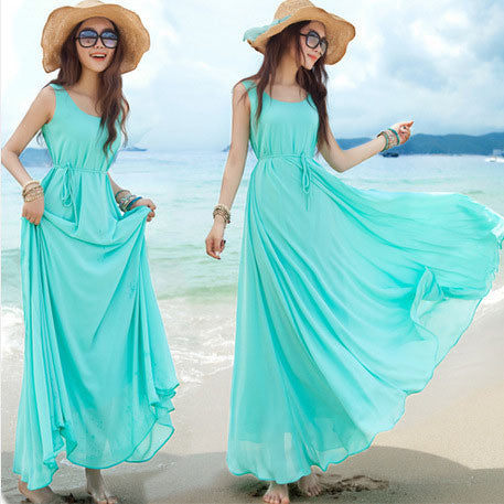 2 Colors Pregnant Women's Dresses Maternity Beach Dress, YB006