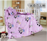 Promotion! 3PCS Kitty Mickey Baby Bedding Sets Crib Cot Bassinette (Duvet Cover+Sheet+Pillowcase)