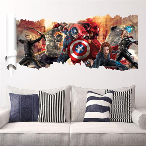 Avengers movie character stickers for kids bedroom home decoration mural art poster 5.5
