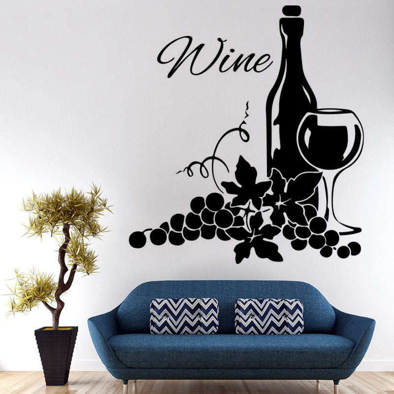 Wine Bottle Wall Stickers Self Adhesive Vinyl Creative Home Decor