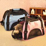 Dog Cat Airline Bag Tote Breathable Travel Transport Cage Vet Bag Zip Lock Shouldwer Bag