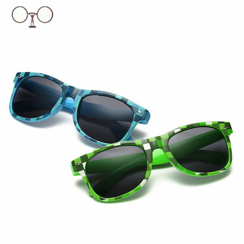 Boys Girls Children Pixel abstract Eyewares Oculos De Sol M2