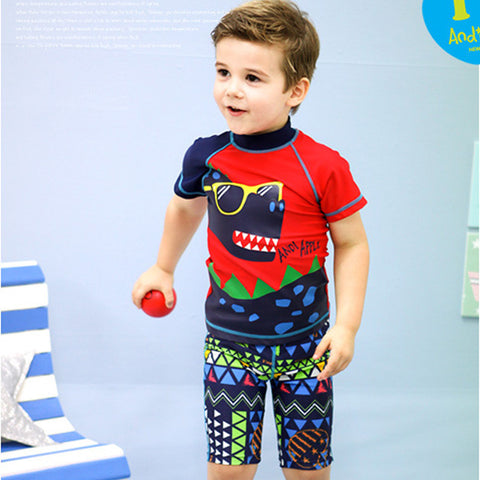 (1set/lot) 3-9Y Boys Swimwear  Nylon Swimming Trunks Swimsuit Kids