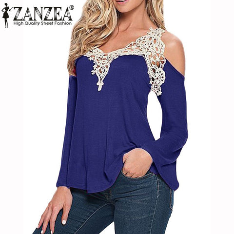 Blouses Sexy Off Shoulder Lace Size S to 5 Xl