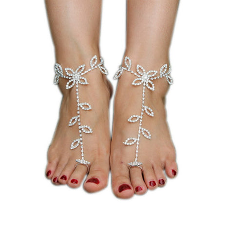 Crochet Barefoot Sandals Decoration Anklet Beach Pool Yoga Beach Wear Anklet